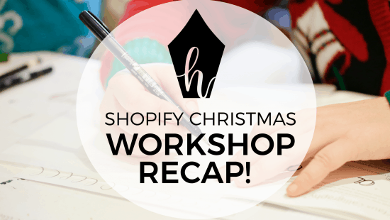 Workshop Recap: Christmas Watercolour & Calligraphy at Shopify!