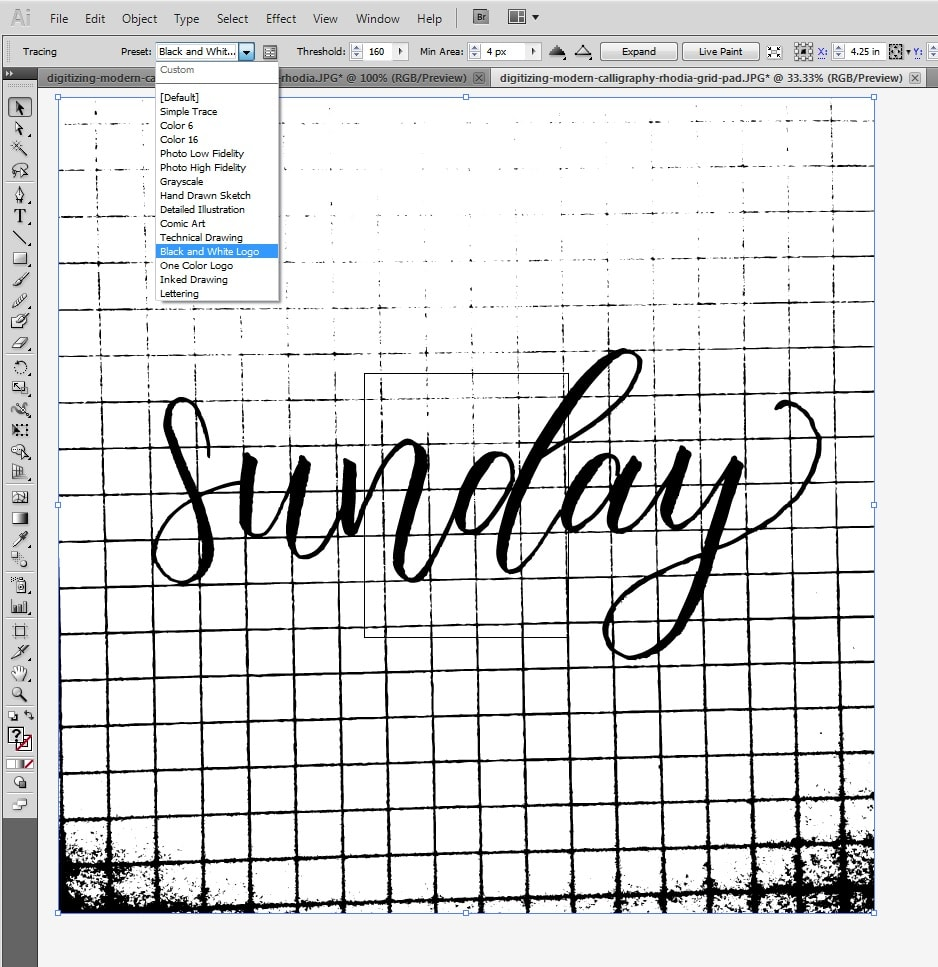 How to Digitize Your Lettering in Adobe Illustrator WITHOUT A