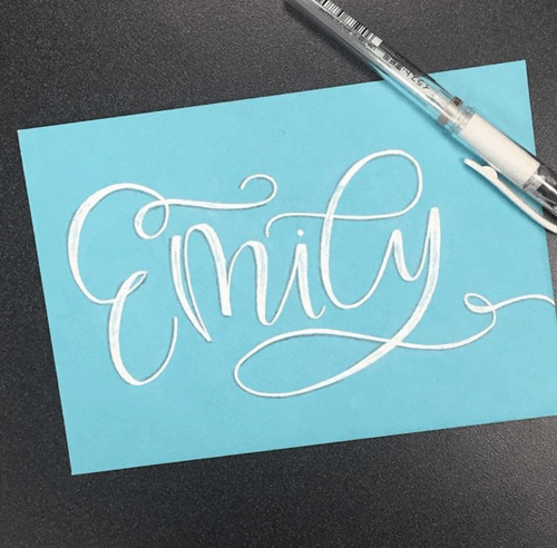 6 Calligraphy & Lettering Accounts To Creep: Volume 1 - The Happy