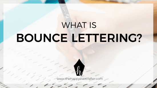 "What Is ""Bounce Lettering""?"