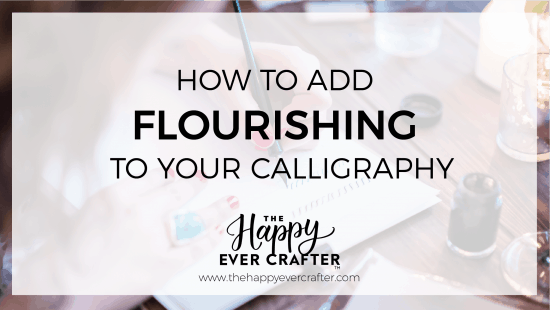 The Easiest Way To Add Flourishing To Your Calligraphy (HINT: it's with a free worksheet!)
