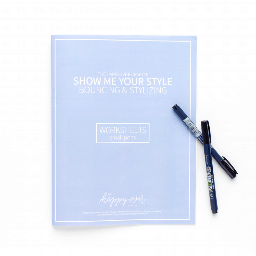 Blue Bouncing & Stylizing Calligraphy Workbook The Happy Ever Crafter