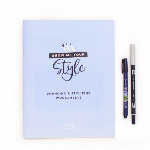 calligraphy workbook styling
