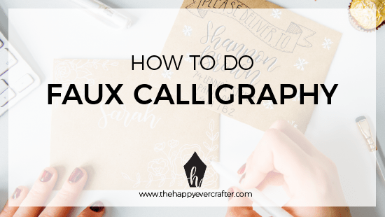 "How To Do ""Faux Calligraphy"" (FREE WORKSHEET!)"