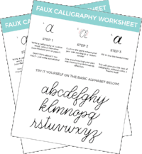 photo relating to Free Calligraphy Worksheets Printable referred to as How Toward Do \