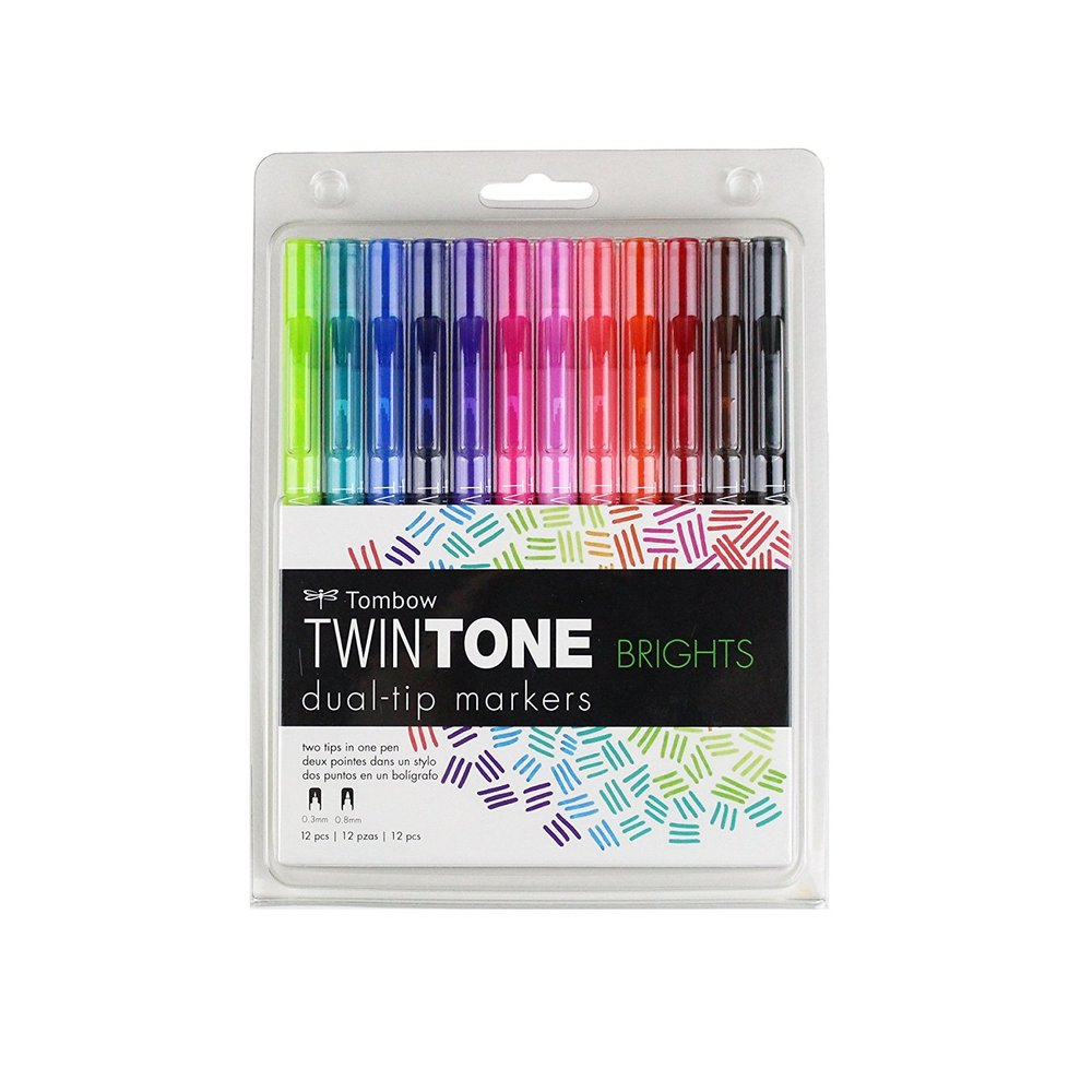 Tombow TwinTone Dual-Tip Markers