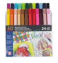 koi watercolor brush pens