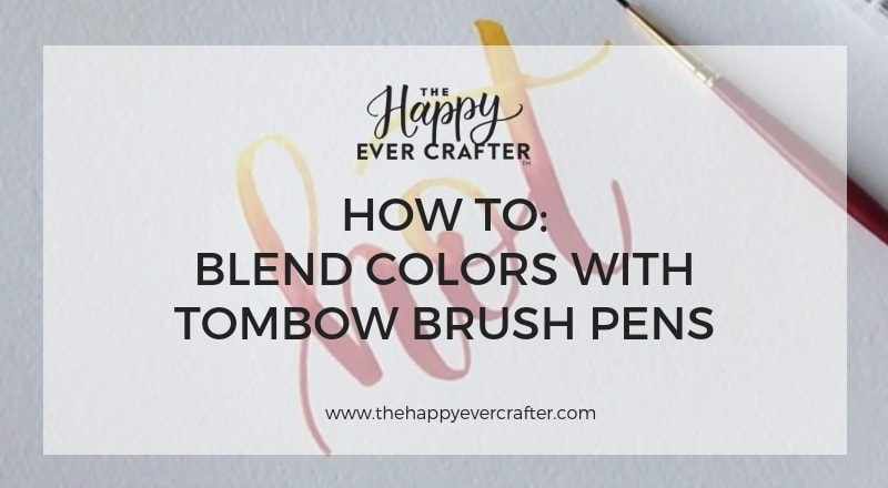 How to Blend Colors with Tombow Brush Pens