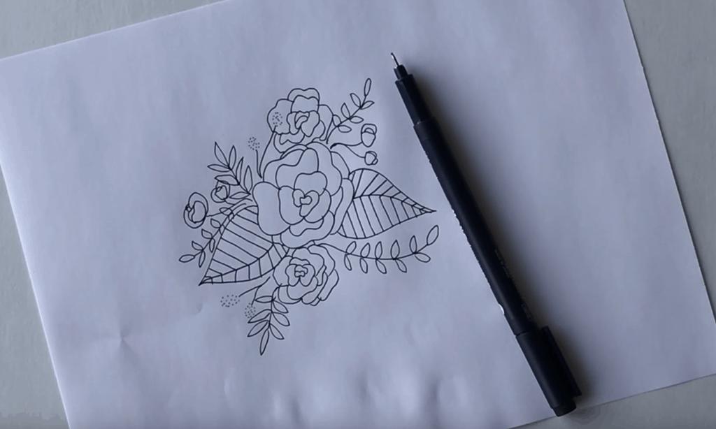 Floral Doodle Arrangement