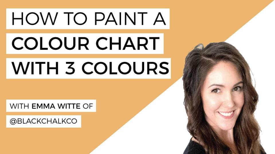 How To Paint a Colour Chart with 3 Colours