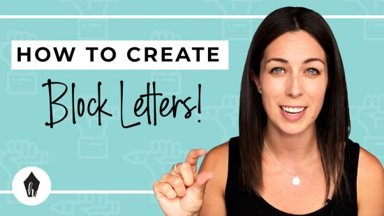 Simple Block Lettering Tutorial For Beginners (Get Started Now!)