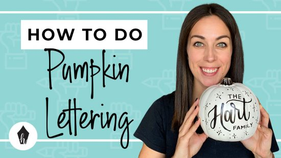 How to DIY Hand Lettering on Pumpkins