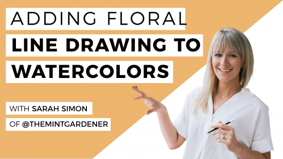 How To Add Floral Line Drawings To Your Watercolour Art