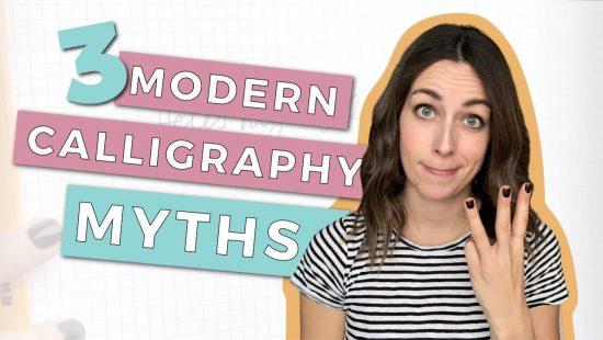 3 Modern Calligraphy Myths
