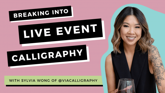 Break Into Live Luxury Event Calligraphy!