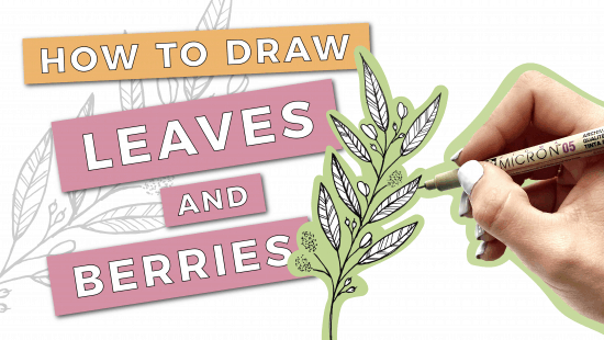 How to Draw Leaves and Berries: Step-by-Step Tutorial