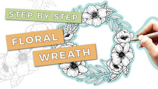 How to Draw a Floral Wreath: Step-by-Step Tutorial