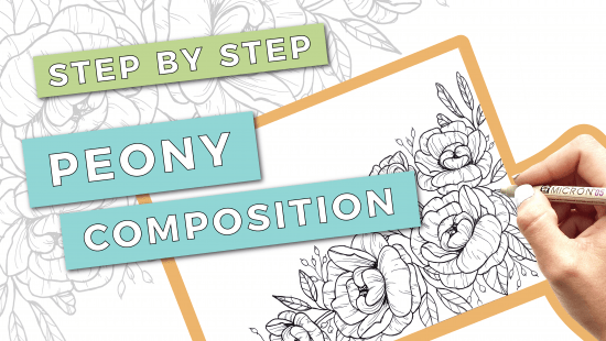 How to Draw a Peony Composition: Step-by-Step Tutorial