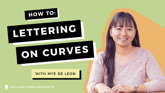 How To: Do Lettering On A Curve!