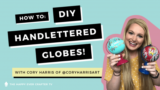 How To: Hand Letter On Globes!