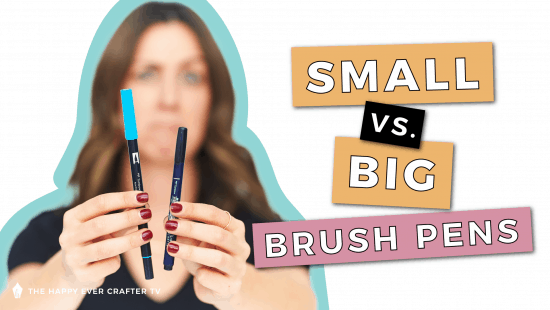 Brush Pens: Small vs. Big. What's the difference?