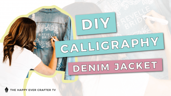 How To DIY A Calligraphy Denim Wedding Jacket