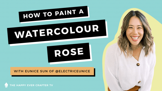 How To Paint A Watercolour Rose!