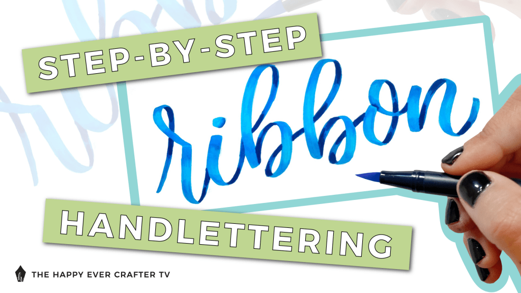 step by step ribbon handlettering