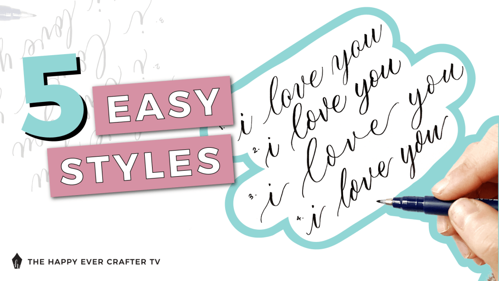 5 Easy Styles to Write I Love You