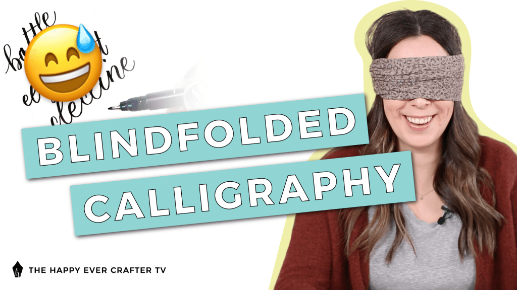 Blindfolded Calligraphy