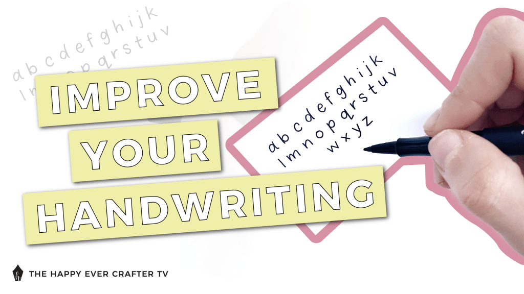 Improve Your Handwriting Graphic