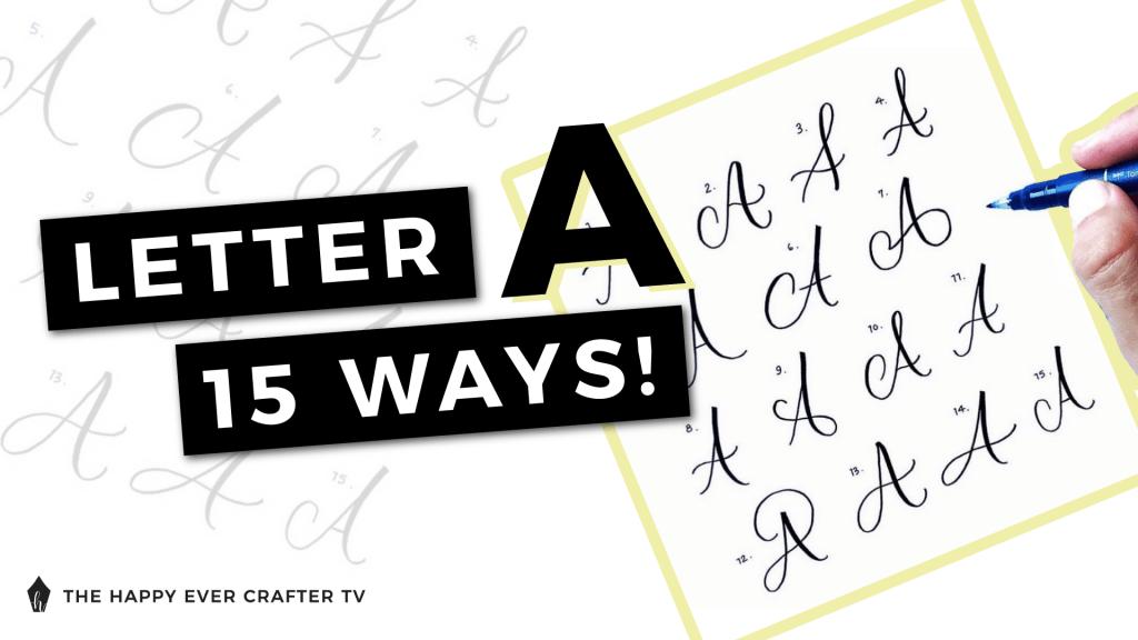 Letter A 15 Ways Photo