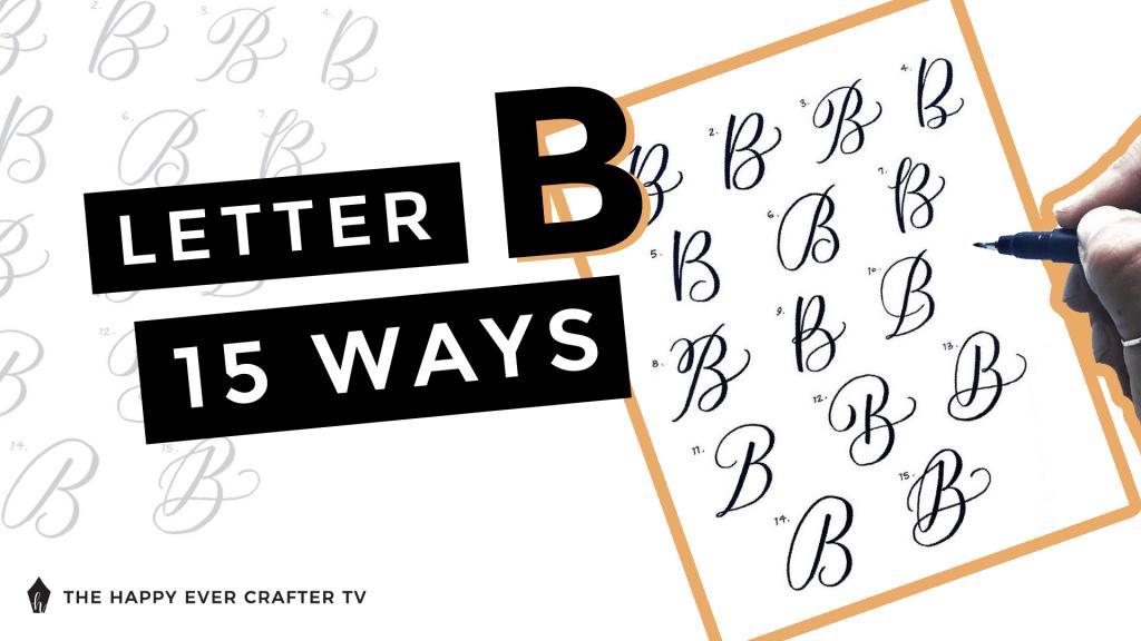 Letter B 15 Ways Photo
