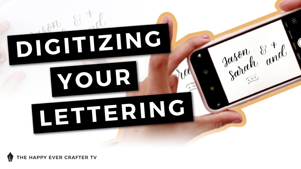 Digitize Your Lettering Photo