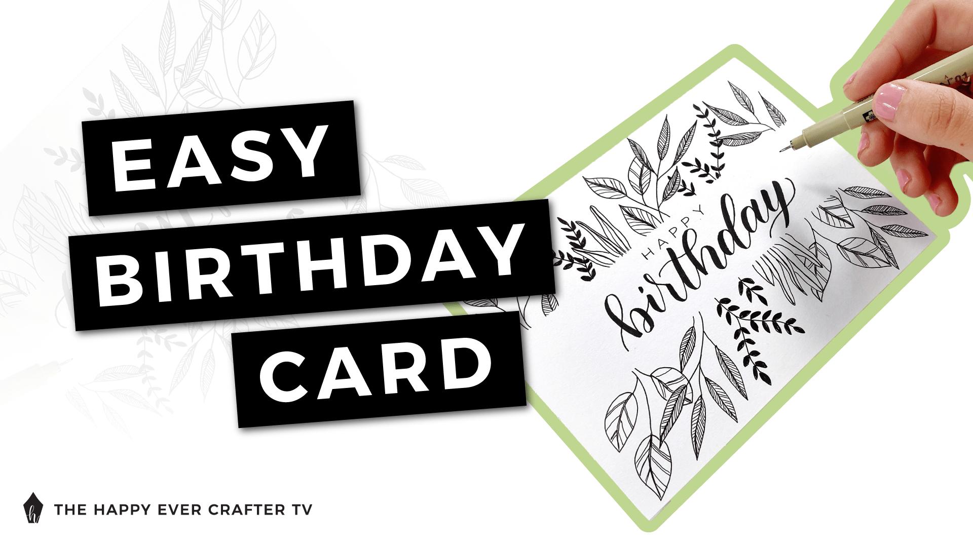Easy Birthday Card Photo